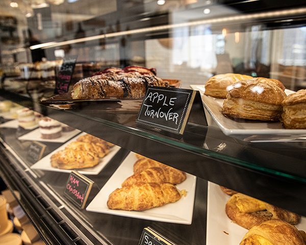 Franklins press cafe with pastry display