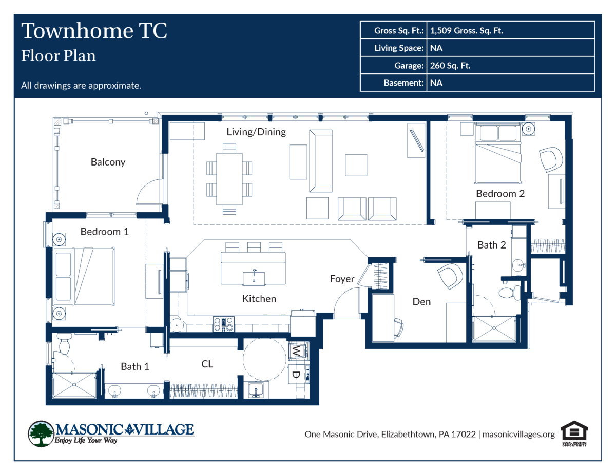 Masonic Village at Elizabethtown Compass Apartment Type C
